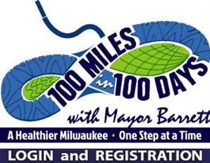 Login or register for the Walk 100 Miles challenge with Mayor Tom Barrett