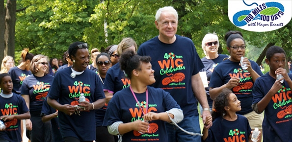 Walk 100 Miles challenge with Mayor Barrett