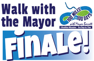 Mayor Barrett  Walk 100 Miles in 100 Days challenge Logo