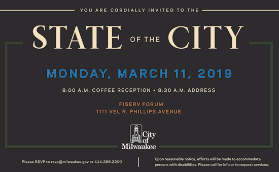 Click for information on the 2019 Milwaukee State of the city address