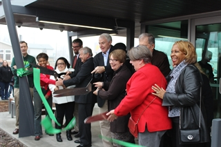 Tippecanoe Library Branch Reopening ribbon cutting