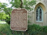 plaque showing historic designation as Wisconsin State Historical Site