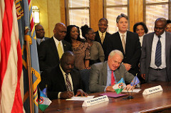 Signing of Sister Cities agreement between Milwauke, Wisconsin and Bomet County, Kenya.