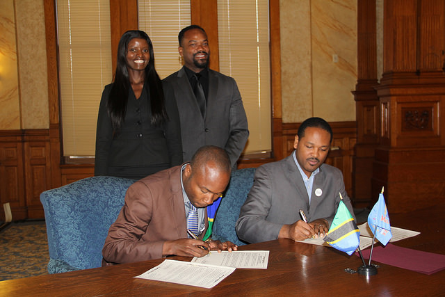 Signing of Sister Cities agreement between Milwaukee, Wisconsin and Tarime District, Tanzania.