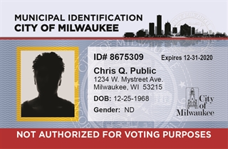 Digital illustration of Milwaukee Municipal ID card