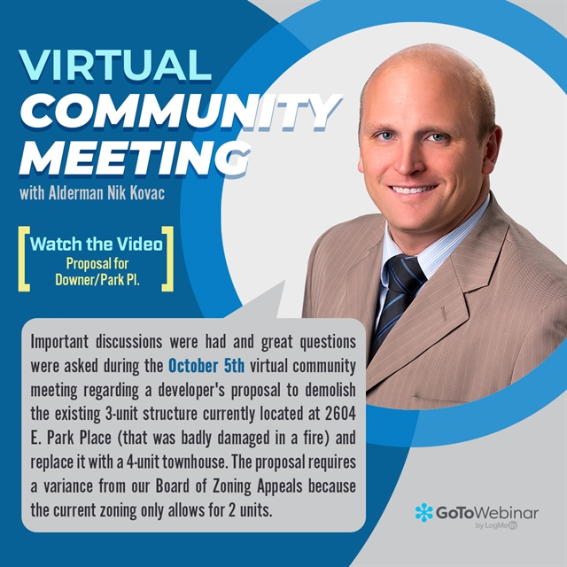 Graphic for October 5th virtual community meeting
