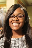 A picture of District 3 Milwaukee Youth Council President, Emoni Gambrell-Toliver