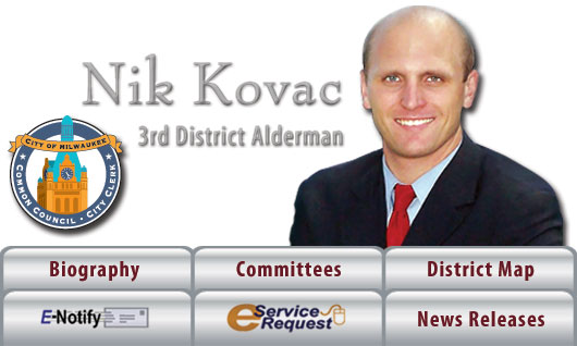 Alderman Kovac - 3rd District