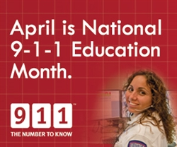 April is 9-1-1 Education Month logo