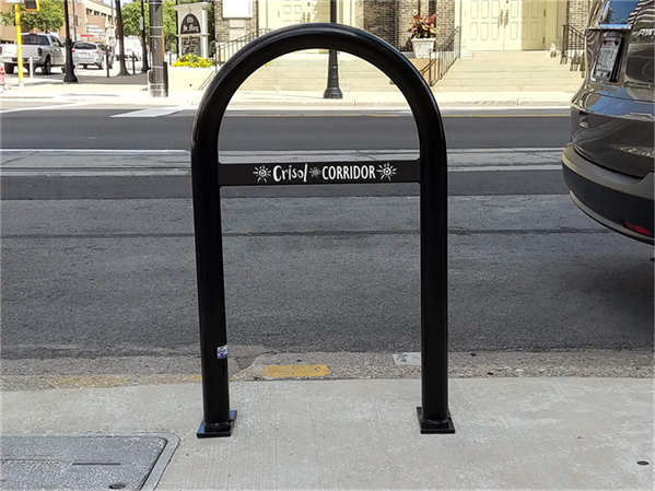Decorative Bar Bike Rack Digital Mockup