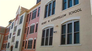 Close up of H.W. Longfellow School