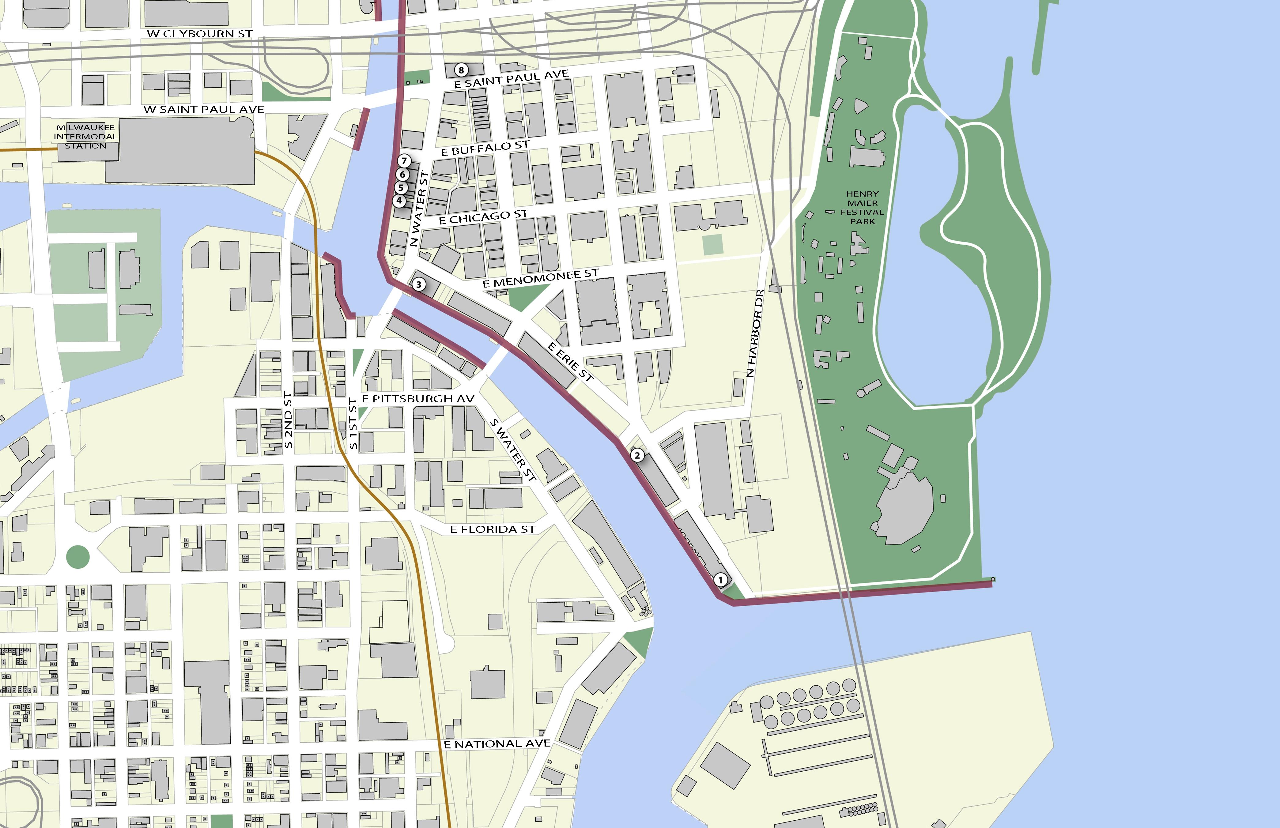 3rd Ward Chicago Map.Third Ward Riverwalk