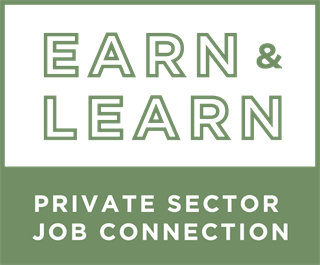 Earn & Learn Private Sector Job Connection Logo