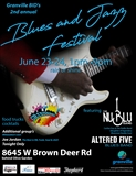 Blues & Jazz Festival June 23-24 1pm-9pm 8645 W Brown Deer Rd Flyer.