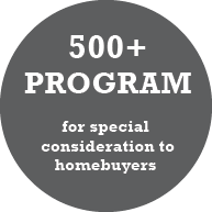 Click to access 50+ Program for special consideration to homebuyers