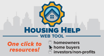 Housing Help Web tool. One click to resources.