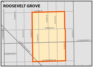 Open a larger image of Roosevelt Grove Targeted investment neighborhood area