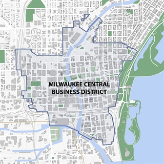 Milwaukee's Central Business District Map