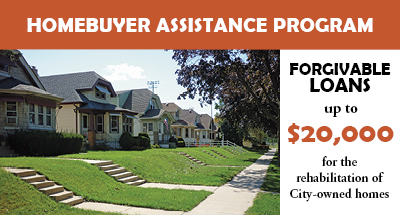 Homebuyer Assistant Program, Forgivable loans up to $20,000