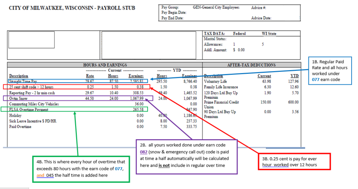 Example of Employee Paystub