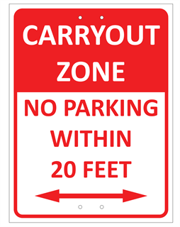 Restaurant Carryout Zone application