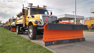 A photo of a City of Milwaukee Snow Plow
