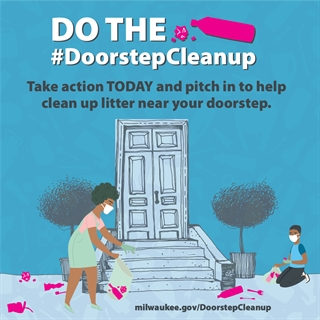Doorstep Cleanup Ad Woman