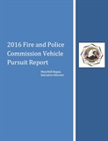 Image of 2016 Vehicle Pursuit Report Cover