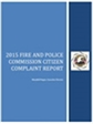 Picture of the Citizen Complaint Report Front Cover