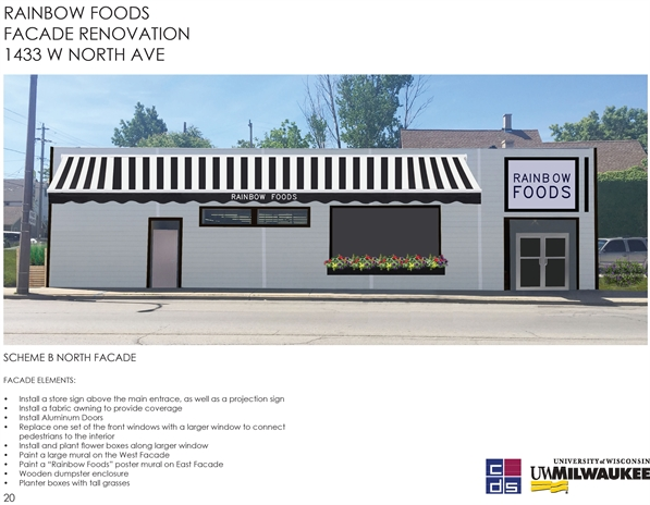 Rainbow Foods Facade Renovation 1433 W. North Ave