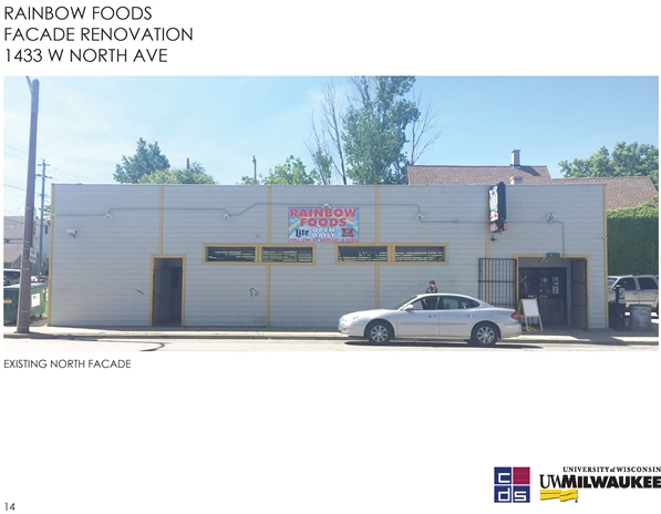 Rainbow Foods Facade Renovation. 1433 W North Ave.