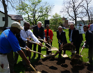 Photo of Mayor Barrett and Home GR/OWN breaking ground