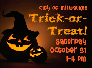 Trick or Treat Saturday, October 31st from 1-4pm