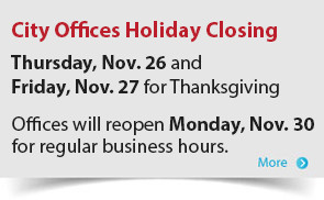 City offices closedThursday, Nov. 26 and Friday, Nov. 27 for Thanksgiving