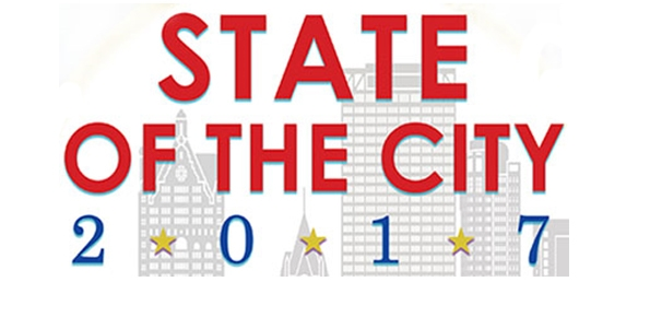 A digital illustration of the 2017 State of the City invitation