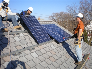 Photo of a solar panel instal