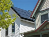 Photo of residential rooftop solar panels