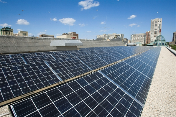 Photo of a City of Milwaukee Solar Array