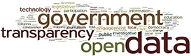 Open Data word cloud