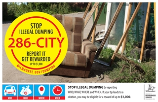 Illegal dumping poster.