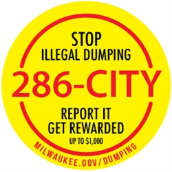 Stop illegal Dumping. Call 286-CITY and get Rewarded up to $1000