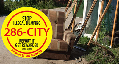 Call 286-CITY to report illegal dumping.