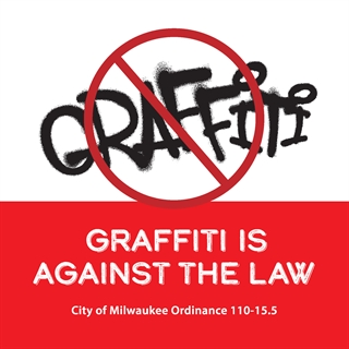 Graffiti is against the law graphic