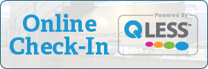 QLess Online Check-In button