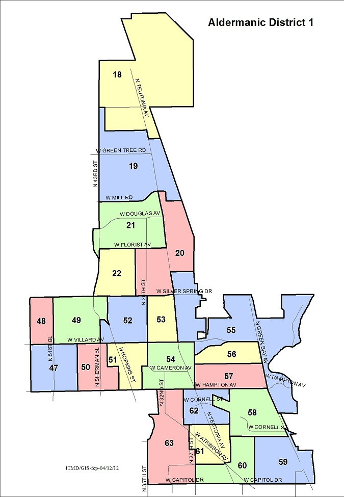 Aldermanic District 1 Voting Wards