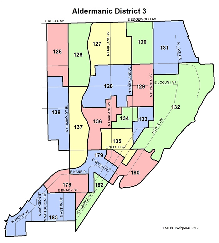 Map Aldermanic District 3 Voting Wards