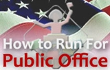 "An icon that reads ""how to run for public office"""
