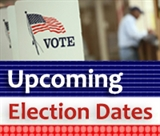 "An icon that reads ""upcoming election dates"""