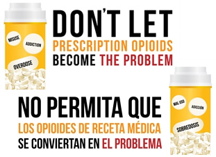 Don't let prescription opioids become the problems.