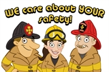 Cartoon Firefighters